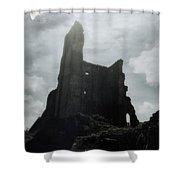Castle Ruin Shower Curtain by Joana Kruse