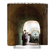 Catacombs in Palermo Shower Curtain by David Smith