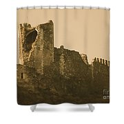 Catapult At Lastours  Shower Curtain by France  Art