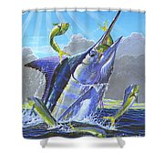 Catch Em Up Off0029 Shower Curtain by Carey Chen