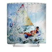 Catch The Wind Shower Curtain by Hanne Lore Koehler