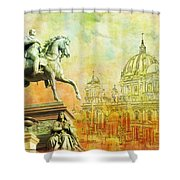 Cathedral De Berlin Shower Curtain by Catf