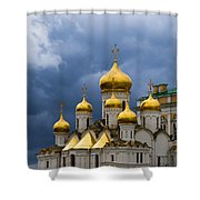 Cathedral Of The Annunciation Of Moscow Kremlin Shower Curtain by Alexander Senin