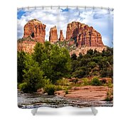 Cathedral Rock Shower Curtain by Fred Larson
