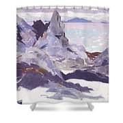 Cathedral Rock  Iona Shower Curtain by Francis Campbell Boileau Cadell