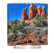 Cathedral Rock Shower Curtain by Lori Deiter