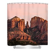 Cathedral Rock Sunset Shower Curtain by Mary Jo Allen