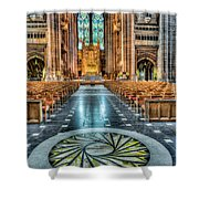 Cathedral Way Shower Curtain by Adrian Evans