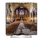 Cathedrale Saint-etienne Interior / Cahors Shower Curtain by Barry O Carroll