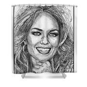 Catherine Bach In 1979 Shower Curtain by J McCombie