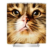 Cat's Perception Shower Curtain by Lourry Legarde