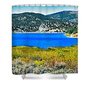Cave Lake Shower Curtain by Robert Bales