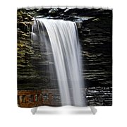Cavern Cascade Shower Curtain by Frozen in Time Fine Art Photography
