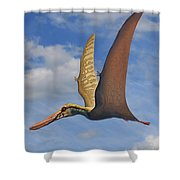 Cearadactylus Atrox, A Large Pterosaur Shower Curtain by Sergey Krasovskiy
