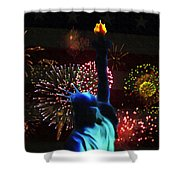 Celebrate America Shower Curtain by Simon Wolter