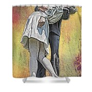 Celebration Embrace Shower Curtain by Tom Gari Gallery-Three-Photography