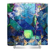 Celestial Sea Shower Curtain by RC deWinter