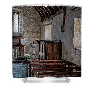 Celynnin Church V2 Shower Curtain by Adrian Evans