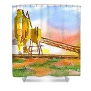 Cement Plant II Shower Curtain by Kip DeVore