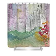 Central Park  Shower Curtain by Linda Woods