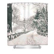 Central Park Winter Landscape Shower Curtain by Vivienne Gucwa