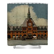 Central Railroad Of New Jersey Shower Curtain by Juli Scalzi