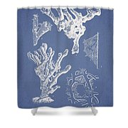 Ceratodictyon spongiosum Zanard Shower Curtain by Aged Pixel