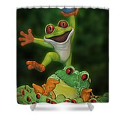 Cha Cha Sign Shower Curtain by Thomas Woolworth