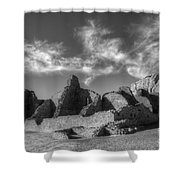 Chaco Canyon Pueblo Bonito Shower Curtain by Bob Christopher