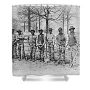 Chain Gang C. 1885 Shower Curtain by Daniel Hagerman
