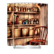 Chair - Chair In The Corner Shower Curtain by Mike Savad