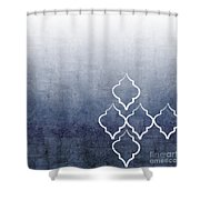 Chambray Ombre Shower Curtain by Linda Woods