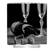 Champagne Bottle Still Life Shower Curtain by Edward Fielding