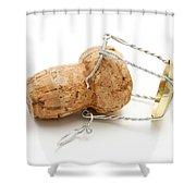 Champagne Cork Stopper Shower Curtain by Fabrizio Troiani