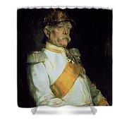 Chancellor Otto Von Bismarck Shower Curtain by Franz Seraph von Lenbach