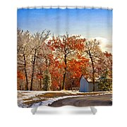 Change Of Seasons Shower Curtain by Lois Bryan