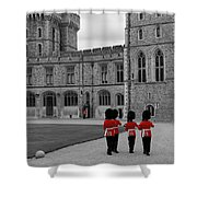Changing Of The Guard At Windsor Castle Shower Curtain by Lisa Knechtel