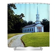 Chapel At The Wayside Inn Shower Curtain by Desiree Paquette