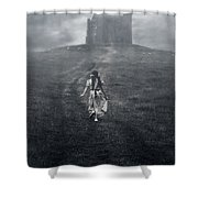 Chapel In Mist Shower Curtain by Joana Kruse