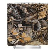 Charge Lancers Shower Curtain by Umberto Boccioni
