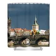 Charles Bridge Prague Shower Curtain by Matthias Hauser