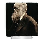 Charles Darwin By Julia Margaret Shower Curtain by Wellcome Images