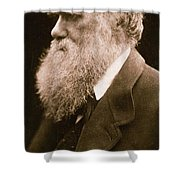 Charles Darwin Shower Curtain by Julia Margaret Cameron