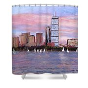 Charles River Boston Shower Curtain by Jack Skinner
