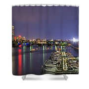 Charles River Country Club Shower Curtain by Joann Vitali