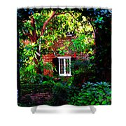 Charleston's Charm And Hidden Gems  Shower Curtain by Susanne Van Hulst