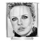Charlize Theron In 2008 Shower Curtain by J McCombie