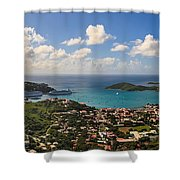 Charlotte Amalie St. Thomas Shower Curtain by Keith Allen