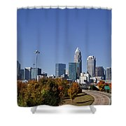 Charlotte North Carolina Shower Curtain by Jill Lang