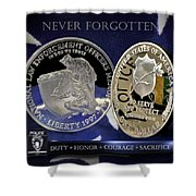 Charlotte Police Memorial Shower Curtain by Gary Yost